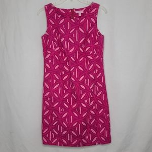 Lilly Pulitzer 6 Pink Patterned Mini Dress Flaw